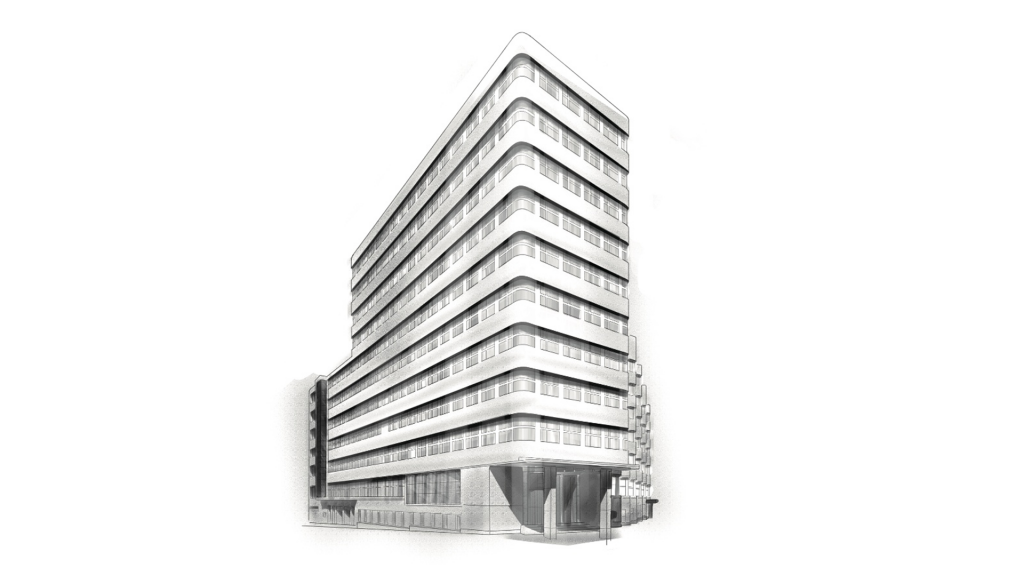 Marc Schubert - illustration - Frankfurt - Architektur - Shell House - 0738972